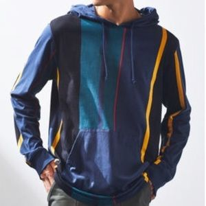 Pacsun Multicolored Oversized Striped Hoodie